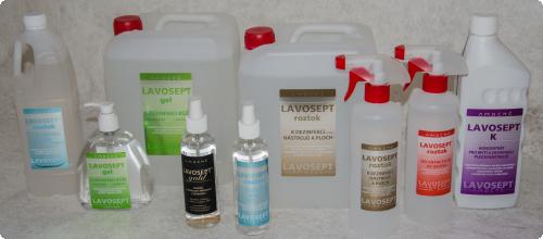 Kolekcia dezinfekcia Lavospt