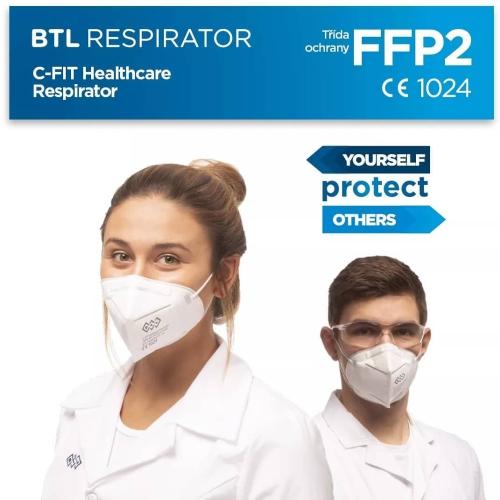 Respirátor C-FIT trieda ochrany FFP2