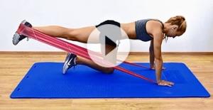 Cvičenie s cvičebnou gumou TheraBand